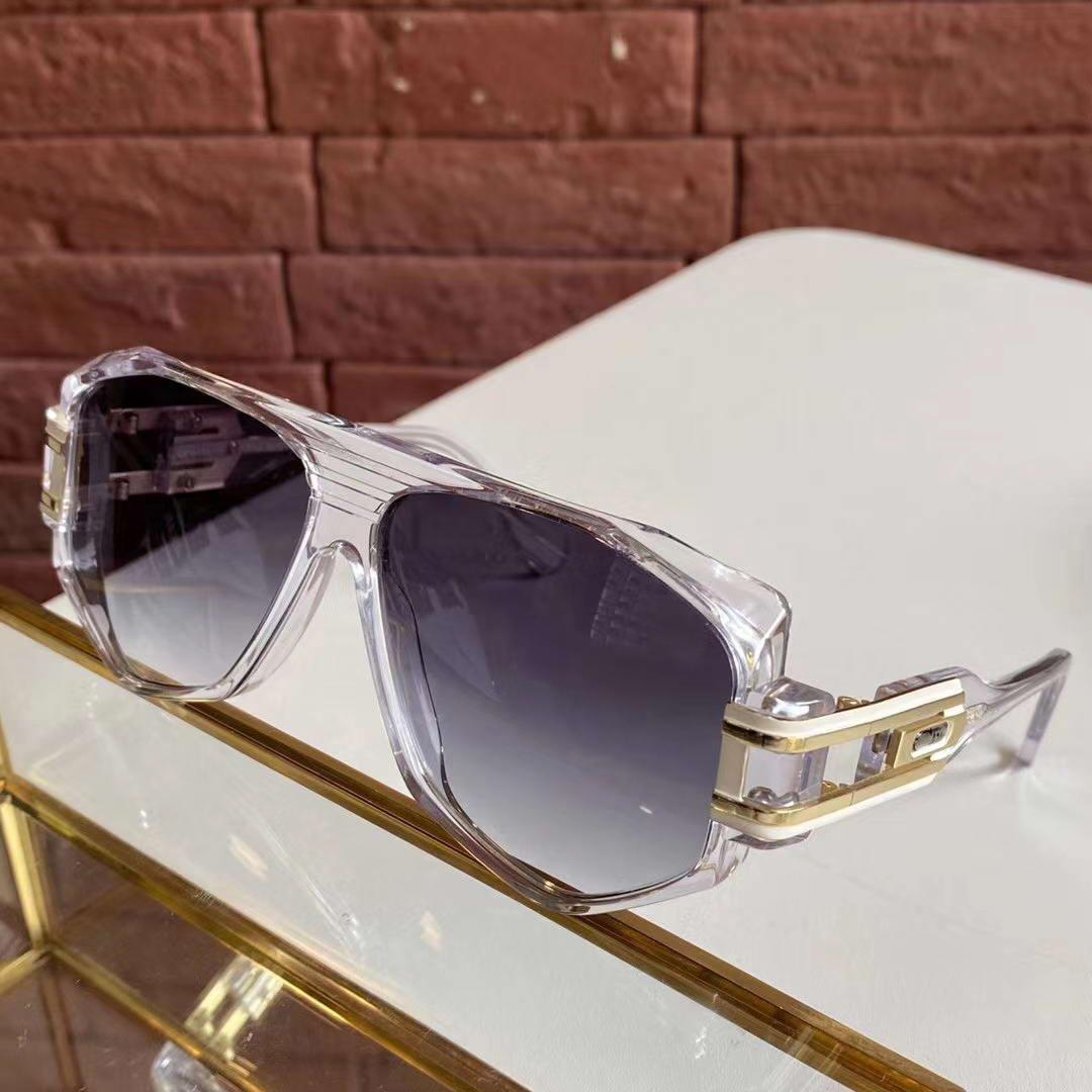 Legends 163 Sonnenbrille Kristallfeld Grau Gradient Lens 59mm Rare Vintage-Brillen occhiali da sole Männer Weinlesesun-wth Box-Brille