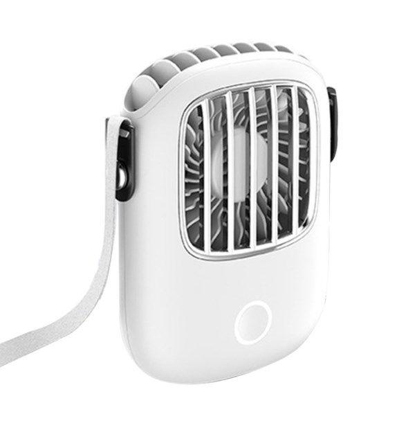 Originalità elettrico Hanging collo di corsa mini ventilatore Ufficio del dispositivo di raffreddamento piccolo ventilatore esterno portatile USB ricaricabile