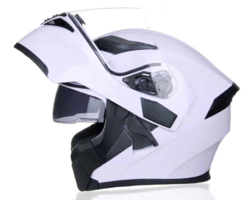 Jiekai الرجال والنساء خوذة دراجة نارية الشتاء دفء دراجة نارية أربعة مواسم عالمية كامل غطاء مكافحة الضباب مرآة مزدوجة