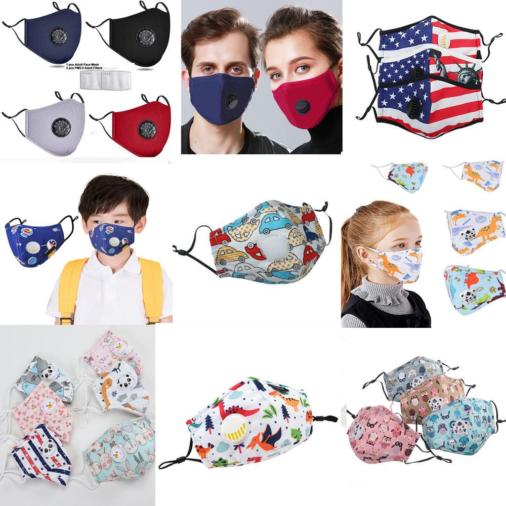 migliore ppe briscola lavabile mascherina di paillettes riutilizzabile Maschere viso bambini di fronte del cotone maschera Ear Loop anti-polvere maschera di protezione facciale con filtro