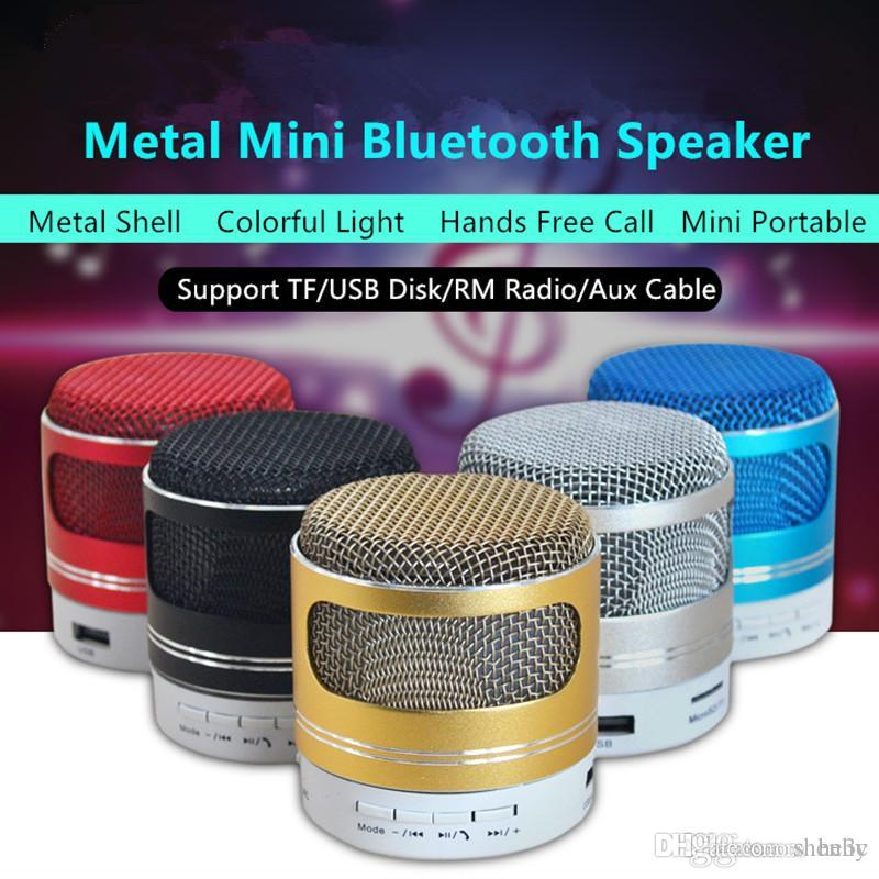 Metal Mini Bluetooth Speaker Portable Stereo Music Player Sound Box Support TF/USB/FM Radio With Mic For iPhone Samsung PC