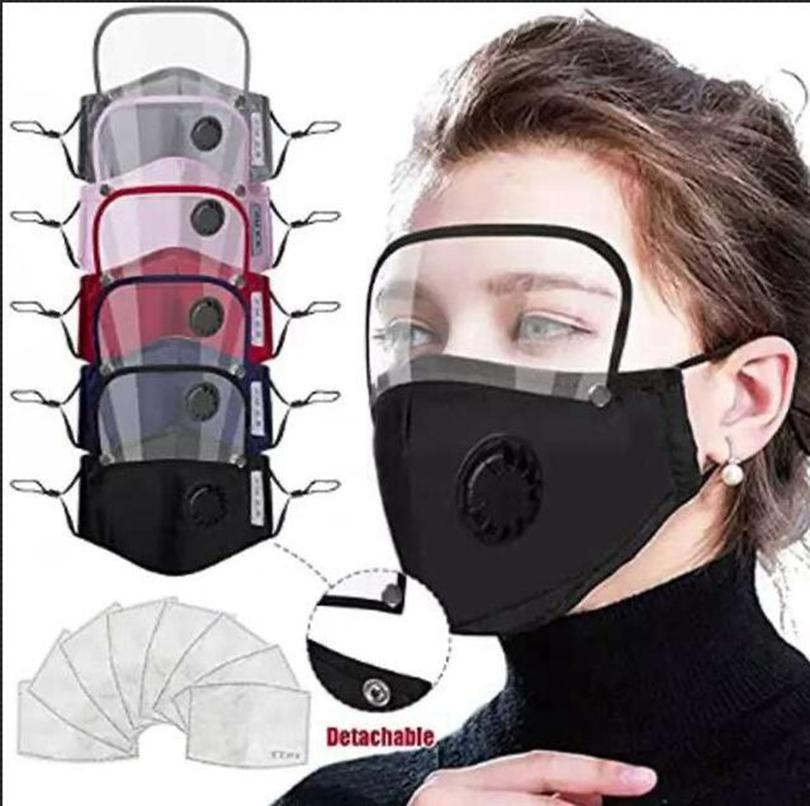 Máscara para mascotas en la cara de la cara Mascarilla de aislamiento 6style con máscaras de cobertura de aceite completo Anti-niebla 2 válvula de protección protectora 1 filtro de pantalla GGA3583-2 ASDAQ