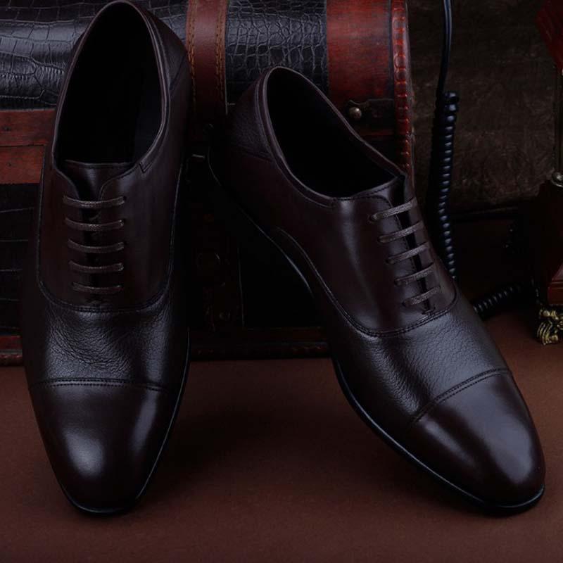 Ourui neue Geschäfts formale Mannschuhe Hirschleder gemeinsame echte Ledersohlen Hirschleder zusammen Männer Schuhe Joining