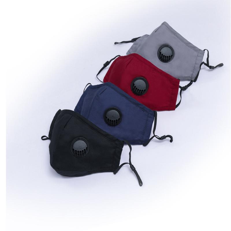 Lavable à vélo anti-buée Masque coupe-vent bouche moufles coton PM2,5 Masque bouche avec valve anti-poussière Masques YYA255 1000pcs