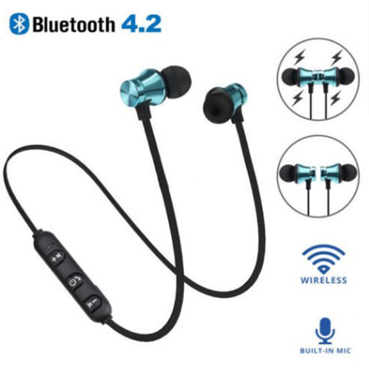 Xt11 Magnet Sport Bluetooth Headphones Bt4 2 Wireless Stereo Earphones With Mic Earbuds Bass Headset For Smartphones With Opp Bag Dpgvc Wireless Telephone Headset Phone Headsets From Dh Niceshop 1 57 Dhgate Com