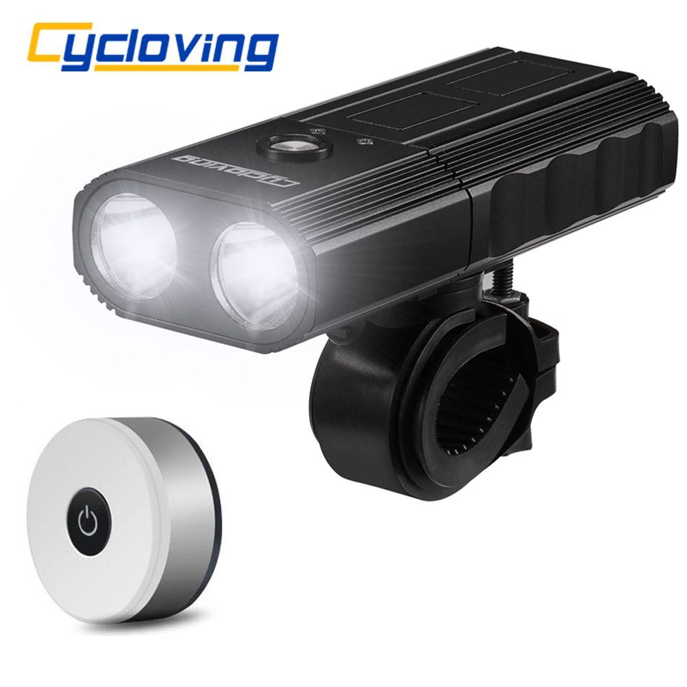 Cycloving велосипед свет 2LED 2200Lums велосипед фары водонепроницаемый IPX3 Power Bank 4000mAh и новый велосипед задний фонарь аксессуары T200718