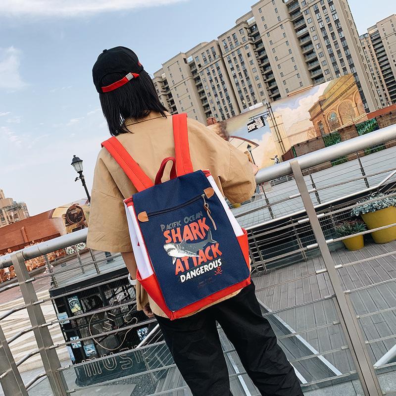 Cartable coréenne Harajuku célèbre marque de haute ins étudiants de l'école super sac à dos chaud Femme grand sac de capacité