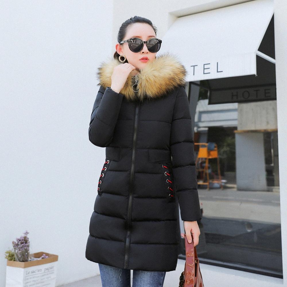 2019 Nouveau Veste d'hiver Femmes Parka Manteau Long Down Jacket Plus Size Fashion capuchon épais manteau Doudounes Femme Pardessus # 830 # wtgB