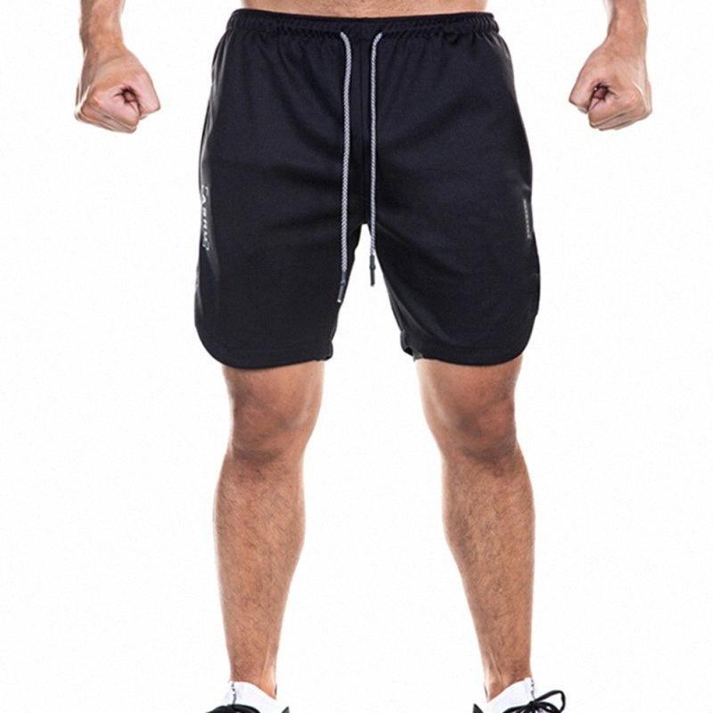 Yeni Erkekler Şort Çift Katman Telefon Cep Spor Salonu Egzersiz Fitness Eğitim Hızlı Kuru Plaj Kısa Yaz tQOI # Koşu