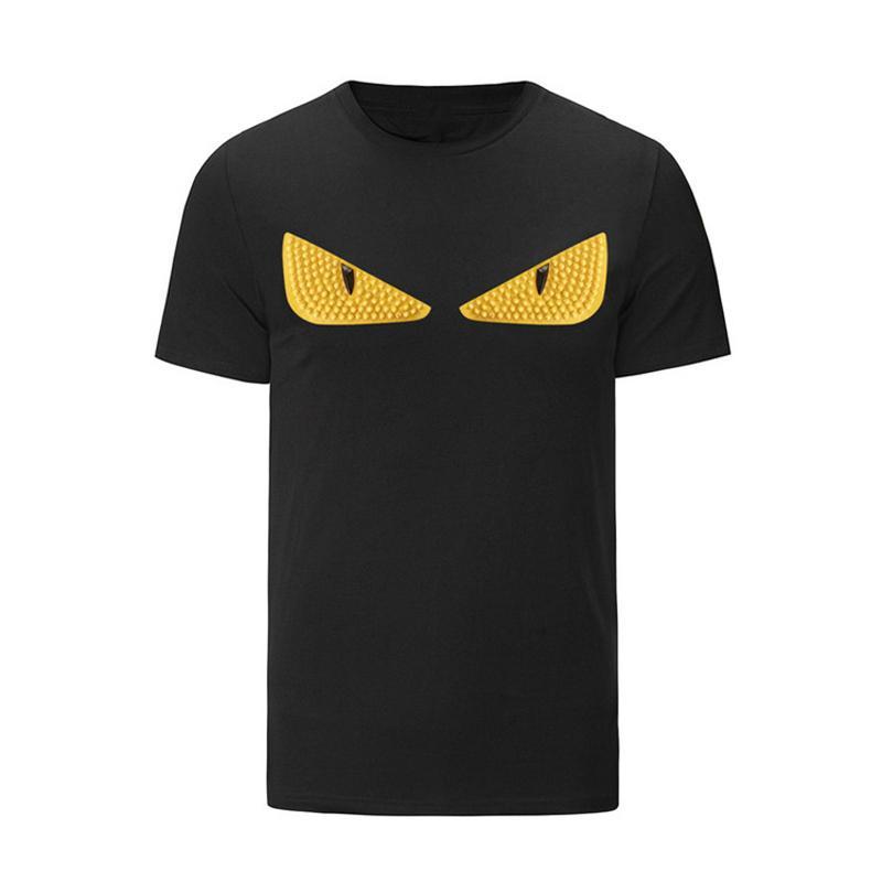 Männer-T-Shirts Schwarz Cotton Tees mit kurzen Ärmeln Druck T Shirts Mode Street Hip Hop Sport-beiläufigen Sommer-Tops Plus Size M-3XL