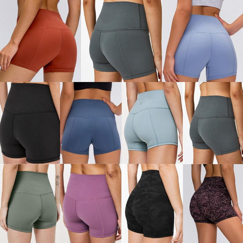 Frauen Leggings Yoga Hosen Designer Womens Workout Turnhalle Tragen Lu Gilr Solide Farbe Sport Elastic Fitness Dame Insgesamt Strumpfhosen kurz 2020 #