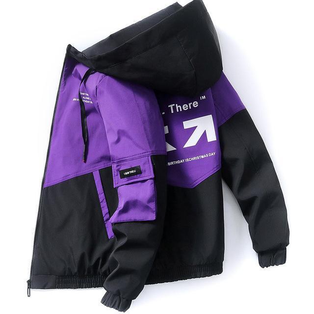 2020 봄과 가을 의류 남성 자켓 outwear 후드 가운 코트 슬림 파카 남자의 후드 패션 인쇄 자켓