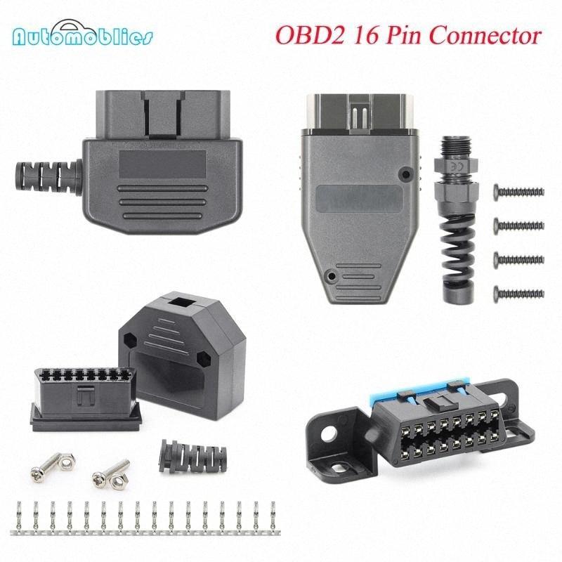 OBD2 16Pin Hombre Mujer conector OBD2 de Diagnóstico por cable para automóvil del OBD II herramienta de diagnóstico ELM327 V1.5 escáner lector de código de MDTZ #
