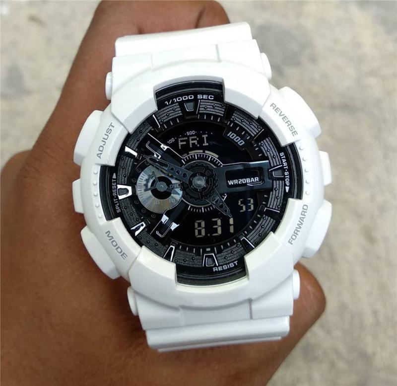 G-Marken-Männer Sportuhren Hot Verkaufs-automatische Licht-Digital-Analog-Uhr Stoß- Armbanduhr Militär-Mann-Uhr Saati erkek Großhandel