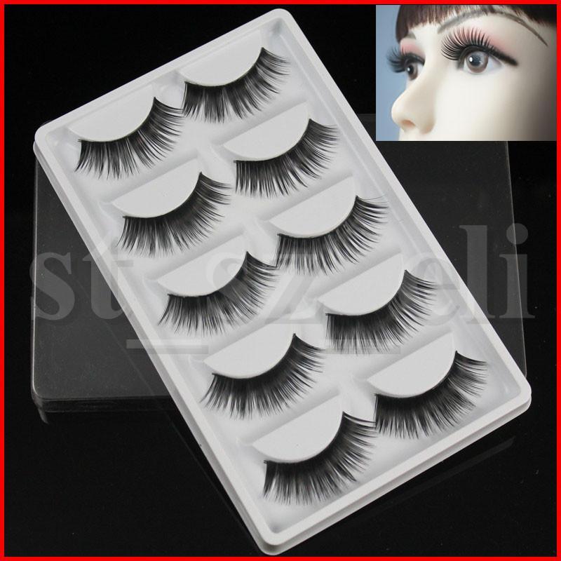 5 Pairs Box Transparent False Eyelashes Messy Cross Thick Natural Fake Eye Lashes Professional Makeup Tips Bigeye Long False Eye Lashesl