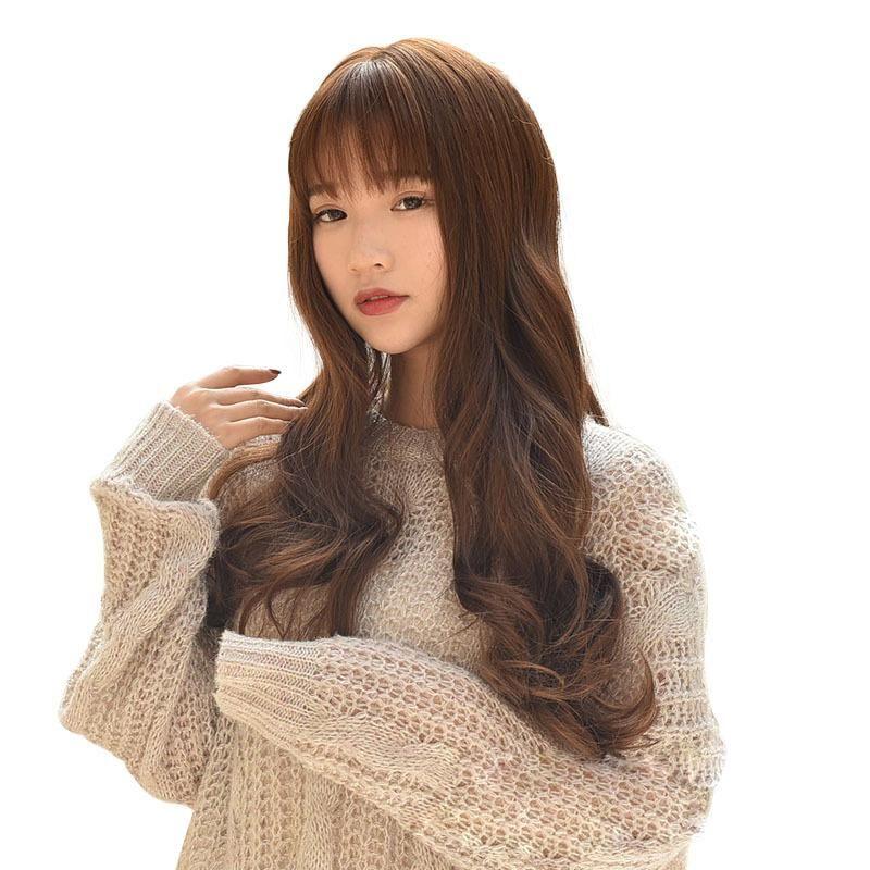 Big Wave Kore Stil Bayan 5 stilleri peruk insan saçı dantel ön Çeşitli renkler peruklar Kabarık Uzun kıvırcık saçlar doğal toptan çok