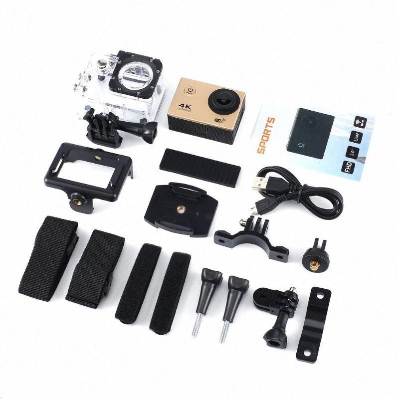 4K acción de la cámara de 16MP Vision 3 Cámara subacuática impermeable Gran Angular WiFi Cam deportes con el kit de accesorios de montaje 3kdo #