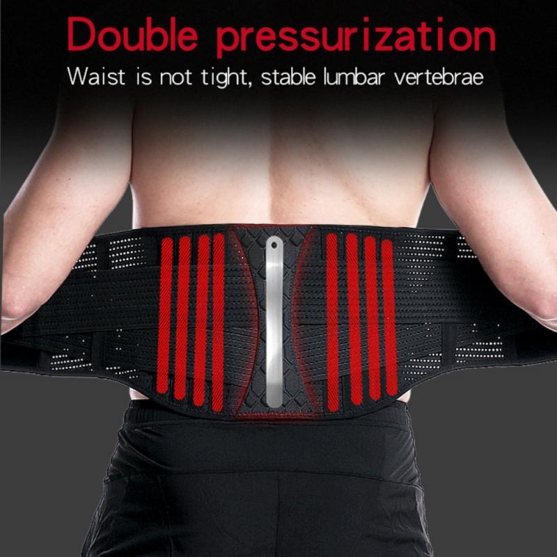 Пояс поддержки талии Позвоночник стальной плиты Поддержка давление Газ Регулируемой Комфортная талии триммер для боли в спине