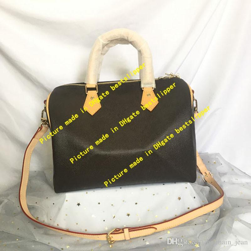 M41107 Kreuzhandtaschen Mode Schnelly Boston Hobo Frauen Echtes Kissen Klassische Körperleder Umhängetasche 30 cm 41107 Tote 25 Taschen 35 PUR TVBC