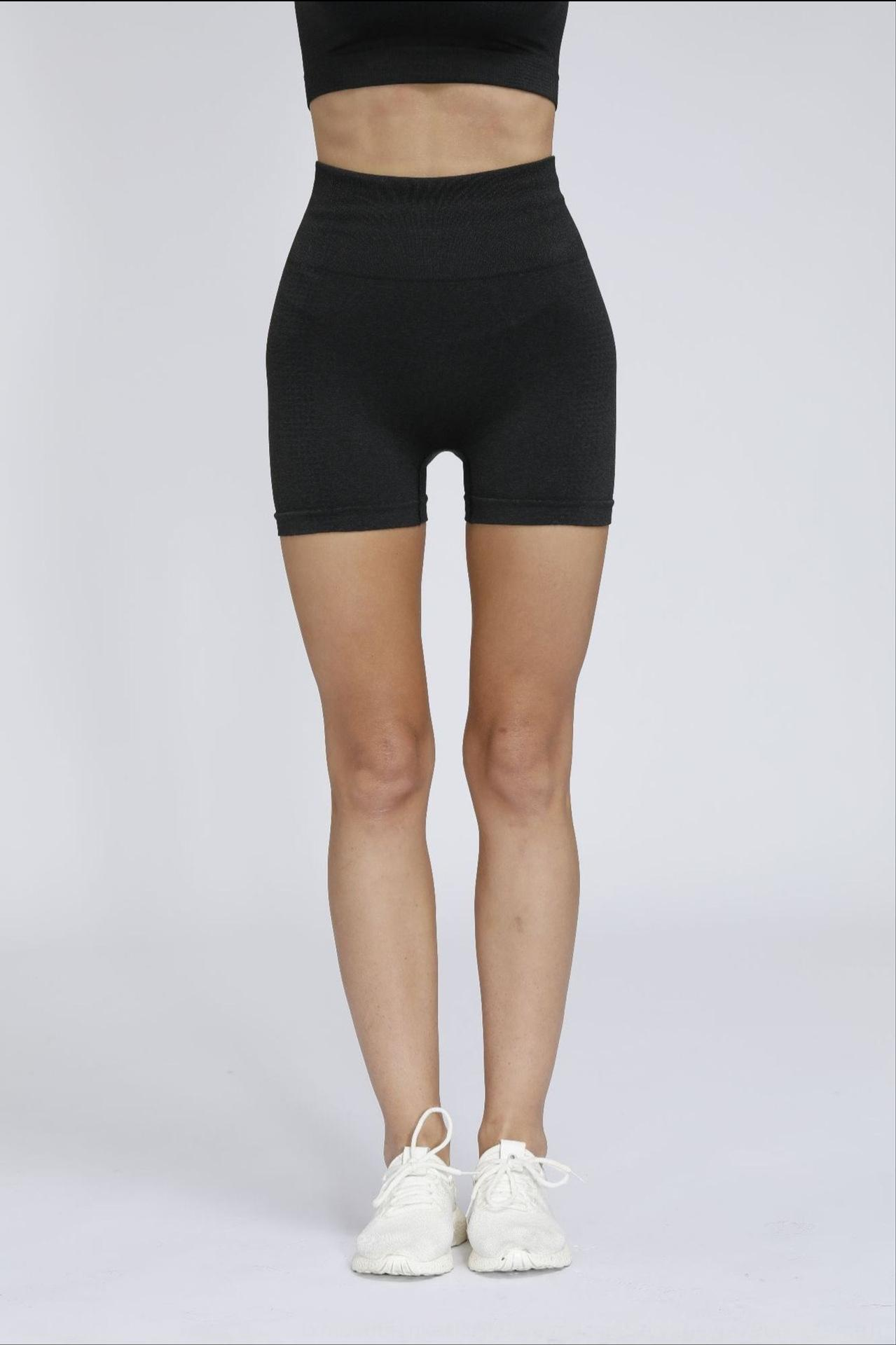 iRgNn New hip-lifting malha de fitness elástica pontilhada jacquard perfeita apertado alta roupa roupa yoga roupas terno yoga Shor 8iMhB