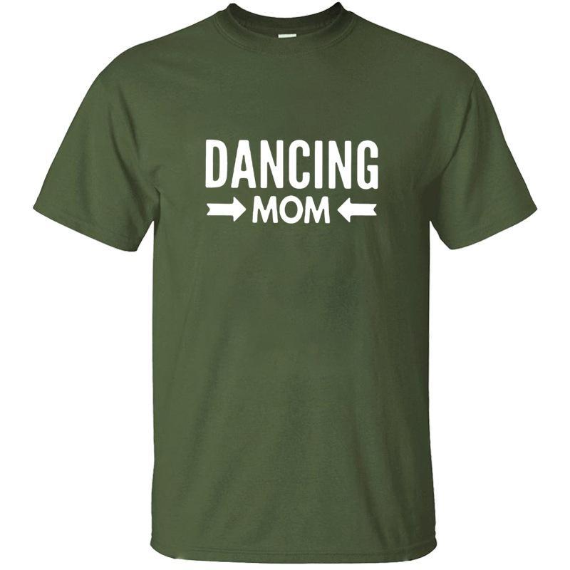 Personalisierte Ausgestattet Tanzen Mom T-Shirt für Herren Cotton Kühles Weiß Weibliche Männer-T-Shirts in Übergrößen S-5xl Top-Qualität