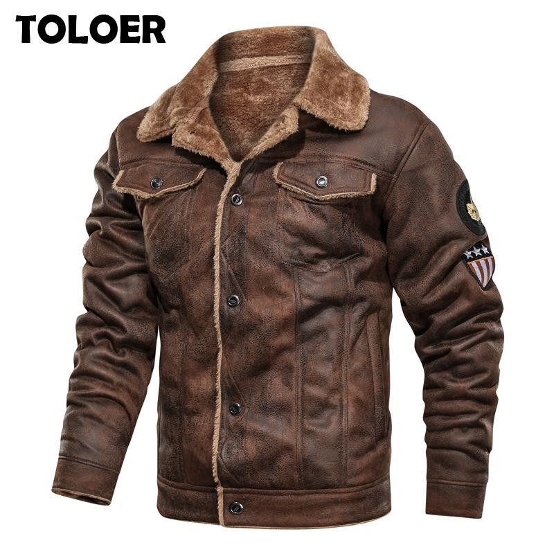 Winter Warm Army Tactical Jackets Men Pilot Bomber Flight Military Jacket Male Casual Thick Fleece Cotton Wool Liner Coat Suede CX200801