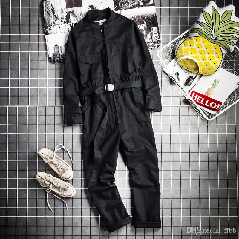2019 nuova marea maschio Inghilterra hiphop sciolti tuta di capelli maschile stilista di moda spettacolo semplice utensili costumi cantante tuta
