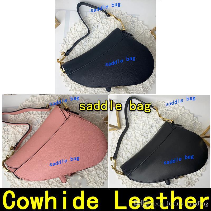 Saddle saco de alta qualidade Handbag Tamanho 26cm saco mulheres Bandoleira Bolsa de ombro vem com sacolas alça Designer Purse sacos de metal bolsas pingente