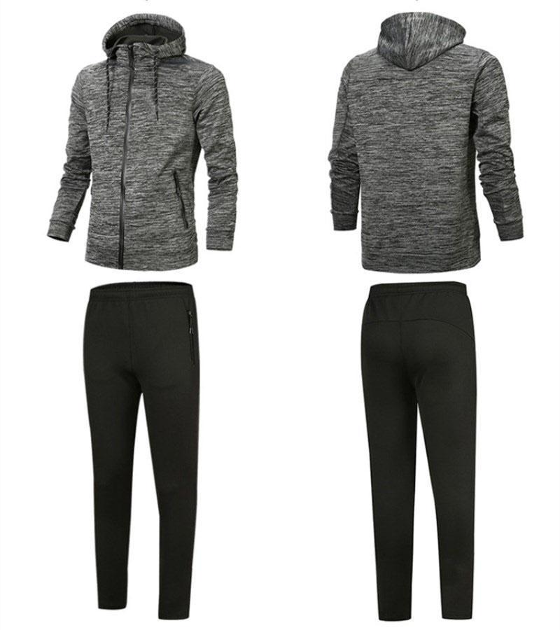 Designer Anzug Beste Version Frühling Herbst Mens Fashion Zipper Anzug Tops + Pants Mens-beiläufige Sweatshirt-Sport-Anzüge mit Kapuze Hoody plus size