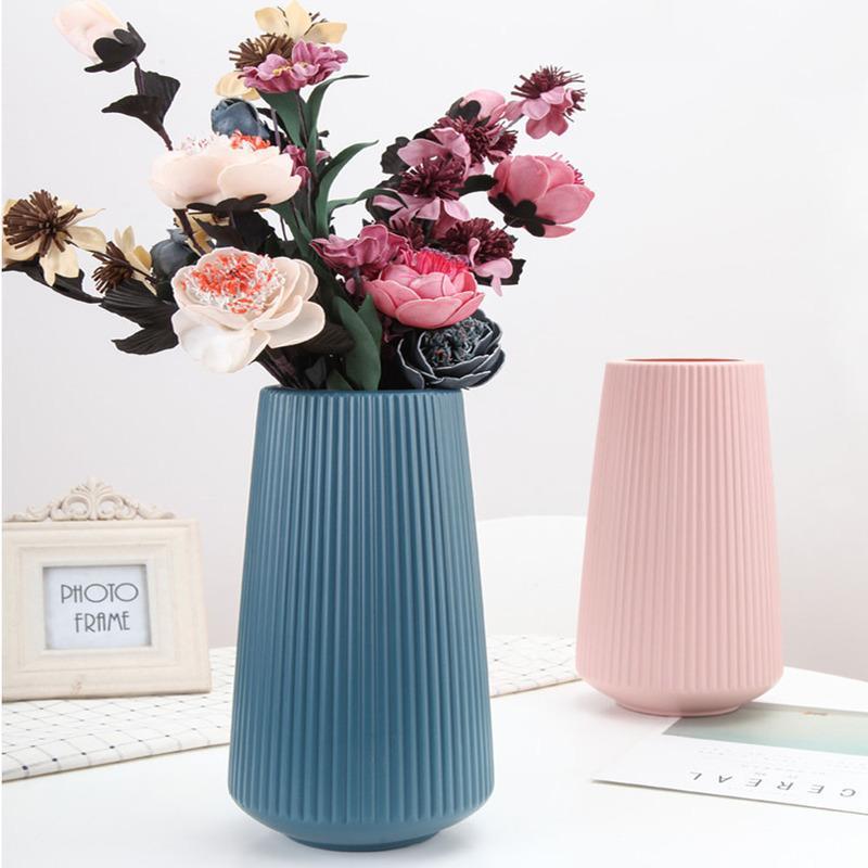 Vaso de plástico Grande minimalista decoração do vaso Início Imitação Glaze Flower Girl Basket Vasos casamento hidropônico plantas Criativas