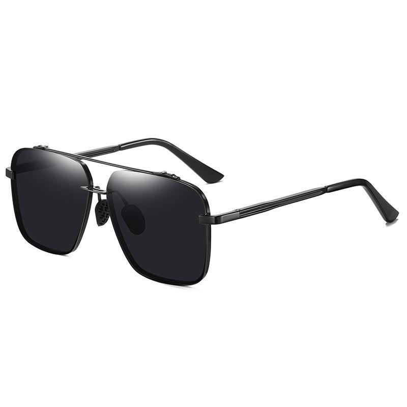 Halbrahmen Quadrat Sonnenbrille Männer polarisierte Sonnenbrille Nachtsichtbrille fahren Fabrikverkauf A636 gelb schwarz grau Brille
