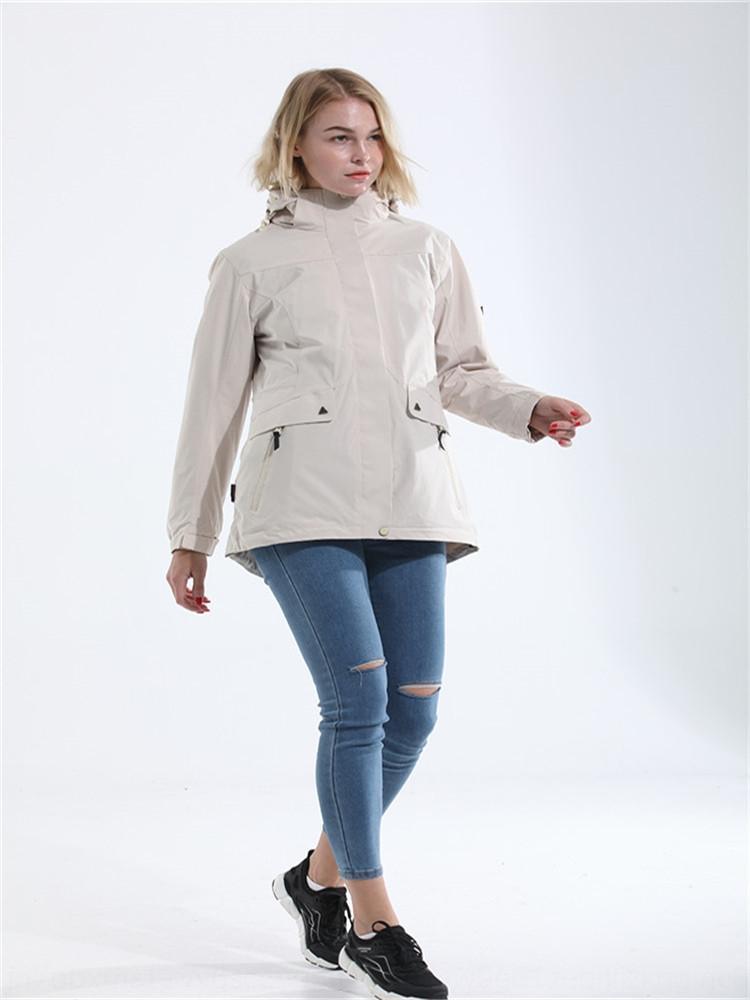 sZ30H Winter outdoor mid-length women Windbreaker jacket jacket jacket's detachable three-in-one two-piece waterproof windbreaker skiing mou