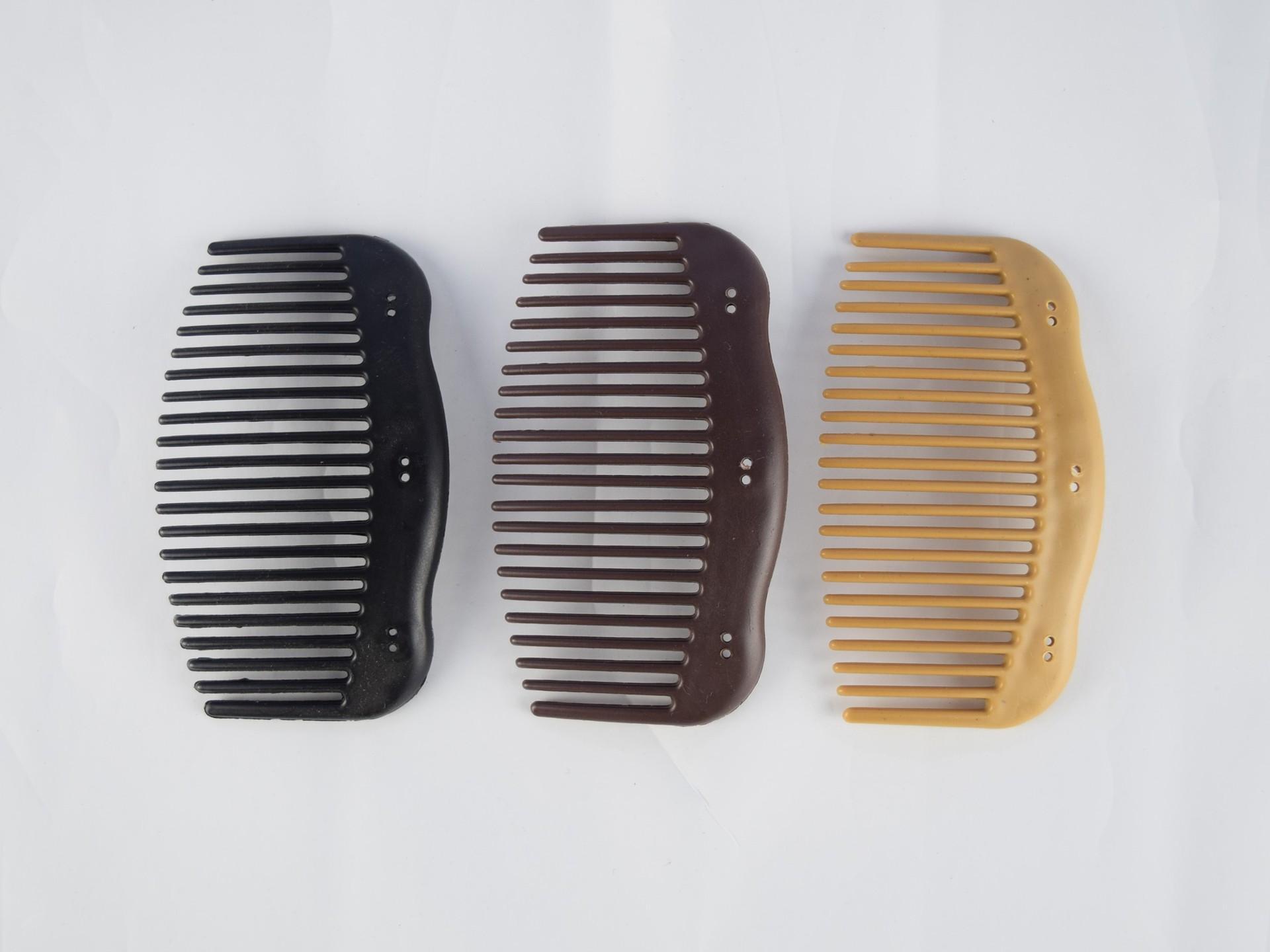 Neue DIY Magic Kämme Damen Holz Stil Kunststoff Multifunktionale Haarkämme Geometrie Kopfbedeckung Haarschmuck Größe M L100PCS pro Los