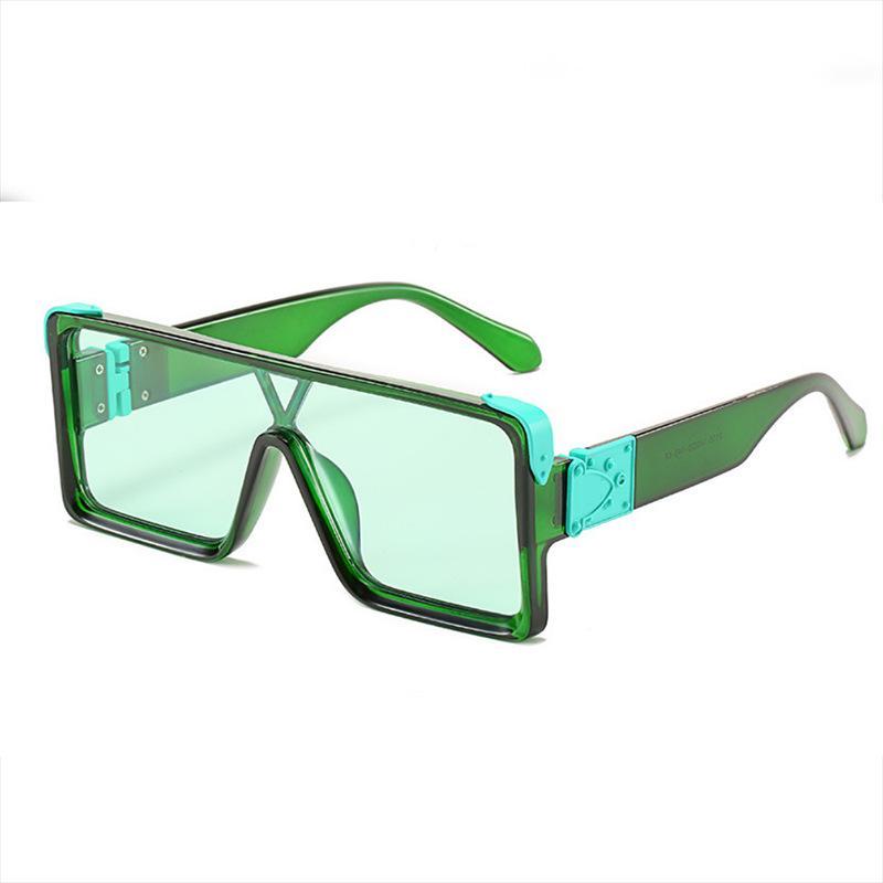 Солнцезащитные очки Рамка Piece Amerian Square Очки Женщины Женщины Молодовые Миллионер Европейская и линза Мужчины Соучённые Очки Модные 2977S MFQNT
