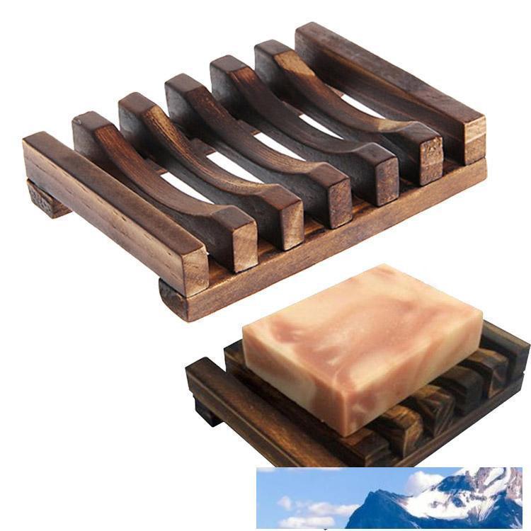 Из натурального дерева бамбука мыльницы лотка держателя для хранения мыла стойки Plate Box Контейнер для ванной Душ плиты ванной