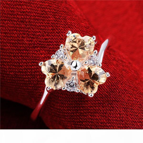 J 10 шт Смешанный тип женщин ', S Gemstone Sterling Серебряное кольцо, High Grade Выброс Модели Мода 925 Серебряное кольцо Gtr45 Интернет для