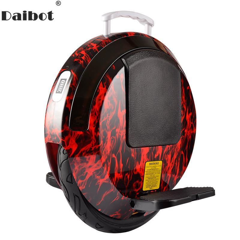 Daibot 전기 외발 자전거 스쿠터 하나의 휠 자체 균형 스쿠터 350W 60V 성인 전기 호버 보드와 블루투스
