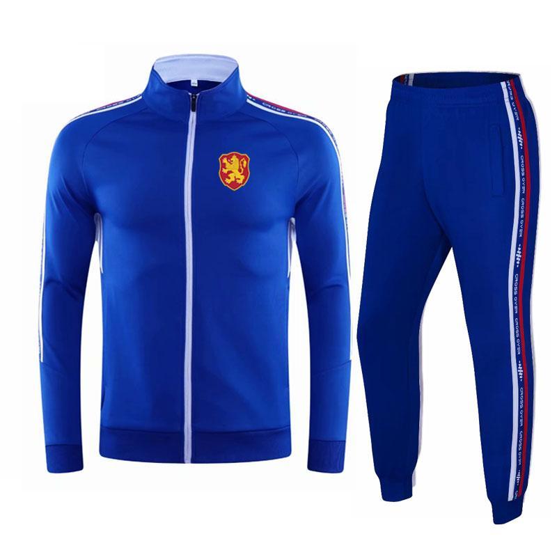 bulgaristan 2020-21 Sonbahar ve takım elbise erkek çalışan takım elbise eğitim kış ceket erkek futbol antrenman takım yeni uzun rahat kıyafet spor