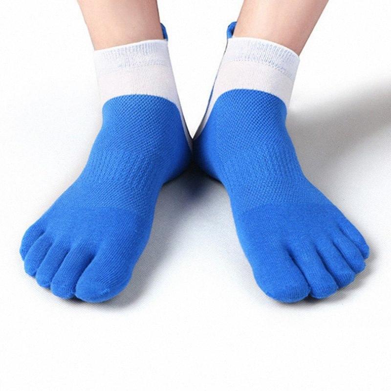 38-43 Men Outdoor Sports Bicycle Socks 1Pair Breathable 5 Finger Toe Slipper Sock Coolmax Pro Cycling Running Socks BC0337 veq2#