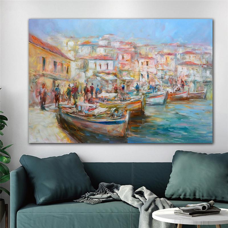 Venice Painting Canvas Art Posters And Prints Impressionist Seascape Canvas Paintings On the Wall Art Pictures Home Decoration