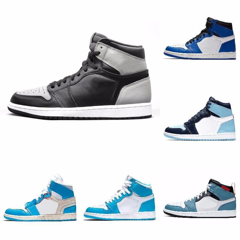 Alta OG 1s Toe de cetim preto quebrado encosto 3,0 Shoes Obsidian Basquetebol Homens Mulheres 1 UNC Patent Paris Preto Sneakers com caixa