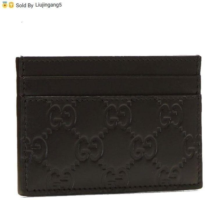"""Liujingang5 547.072 1 Leather """"maschio supporto di carta nera 47072 Borse a tracolla Cwcr Totes Borse Zaini Portafogli borsa"""