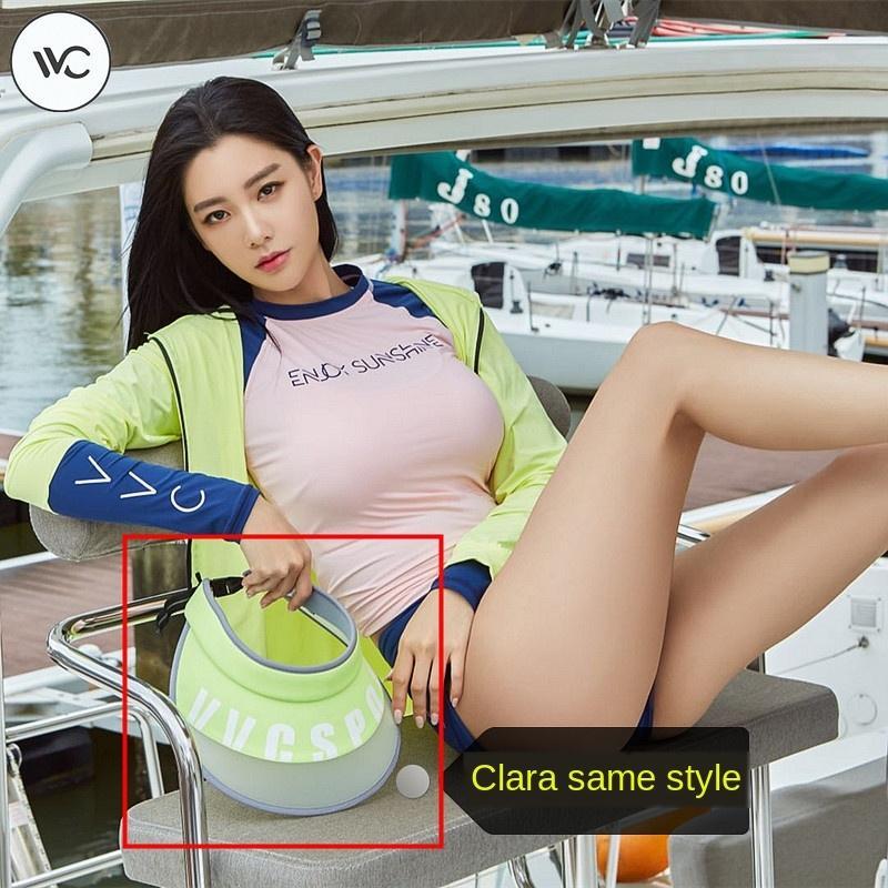 Korean VVC modischer Sonnenschutz Sonnenschutzschirm Hut Curling einstellbar UV-Schutz Sommersport Sonnenhut
