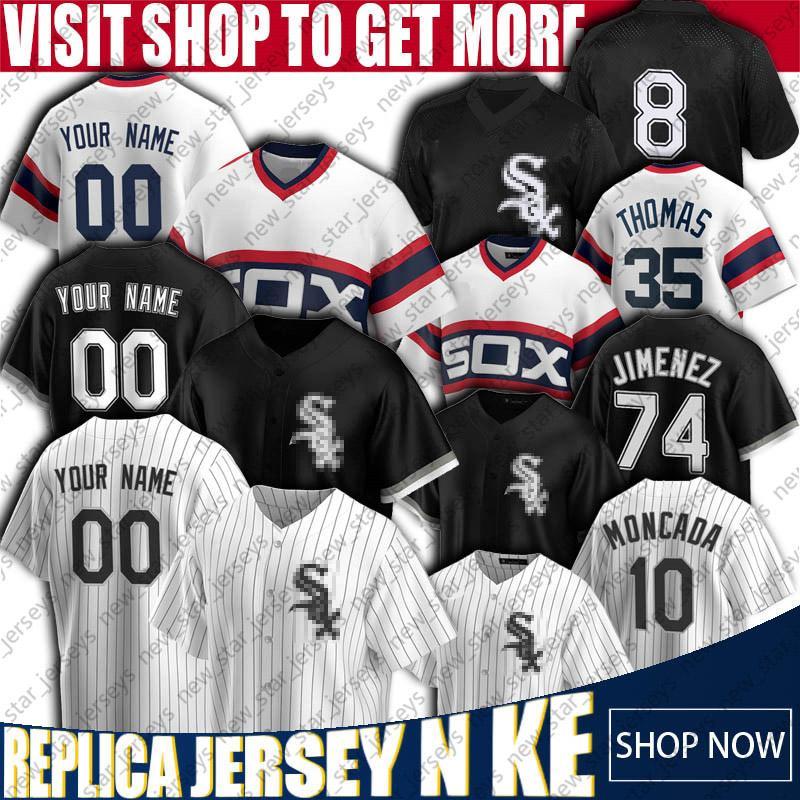 8 Bo Jackson Jersey Yoan Moncada Jerseys Chicago brancos personalizado beisebol Sox Jerseys Frank Thomas Eloy Jimenez Carlton Jersey Anderson