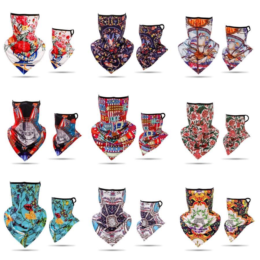 Beliebte Leopard-Druck Digitaldruck-Gesichtsmaske Reit Maske Festliche Männer und Frauen-Magie-Schal-Partei-Schablonen DHC05 # 652