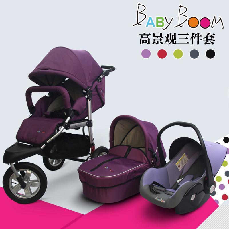 Yüksek manzara Arazi Bebek Yenidoğan arabası arabası ışık bebek arabası yatan oturabilir üç tekerlekli