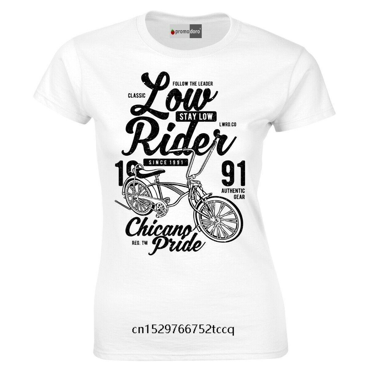 Yaz Moda Sokak Kısa Kollu T Shirt Low Rider Bisiklet VLO Fahrrad Erkekler Baskı% 100 Pamuk Tişört eğilim