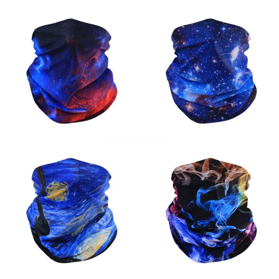 Дизайнер Печатные Женщины шелковый шарф Магия маска для лица 14 стилей шифон Handkerchief Открытый ветрозащитный Половина лица Dust-Proof Маски Зонт # 2 # 969