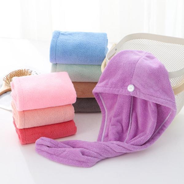 Hair Drying Hat Microfiber Quick Dry Towel Bath Shower Hair Caps Magic Super Absorbent Dry Hair Towel Turban Wrap Hat Spa Caps DHC426