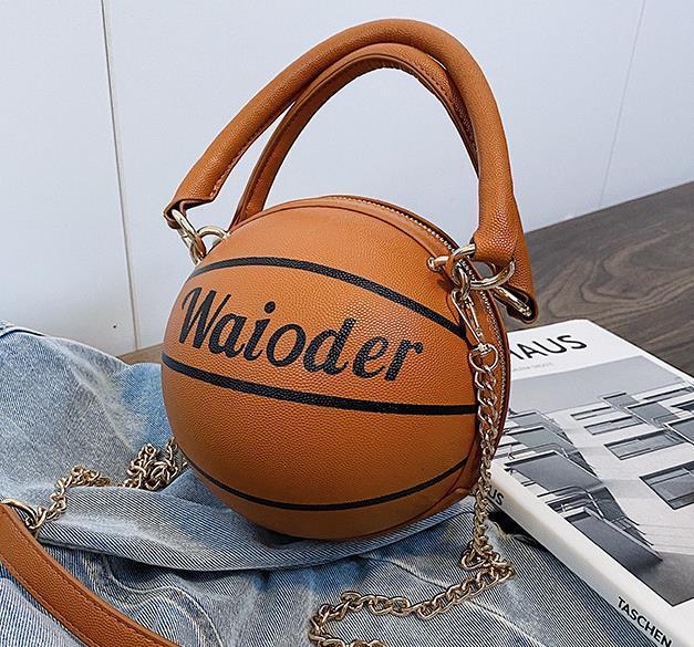 Sac à main une épaule étrangères Femme Sac 2020 Nouveau Mode de Crossbody Sacs de basket-ball Forme Sac Drop Shipping